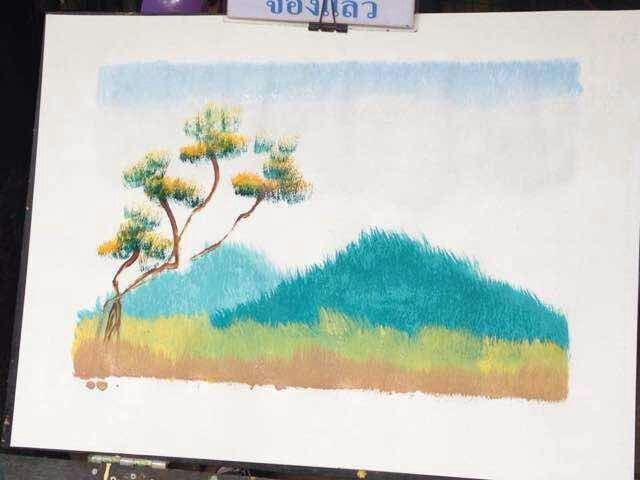 清迈手绘风景油画