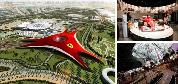 【法拉利主题公园】 营业时间:全年开放,11:00-20:00(公园会因为临时活动或季节缘故,缩短或延长开门时间); 法拉利商店开门时间:10:15-20:00; 公园地址:Yas Island, Abu Dhabi, United Arab Emirates; 交通方式:法拉利主题公园的位置极佳,位于亚斯岛上 (Yas Island),距离阿布扎比市中心仅有30分钟的车程,距离迪拜码头也仅需50分钟; 全球首个法拉利世界,造价400亿美元 在阿布扎比的上空朝下看,会看见一个占地20万平方米的红色&ld