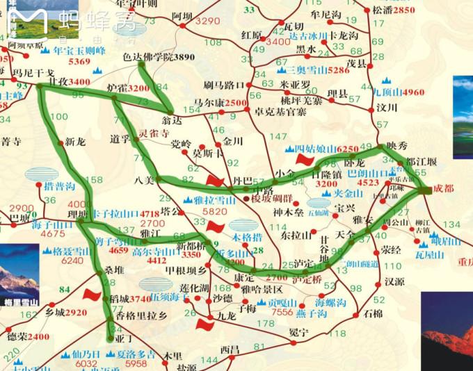 成都到青海地图高清版