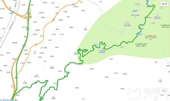 庐山风景景点地图