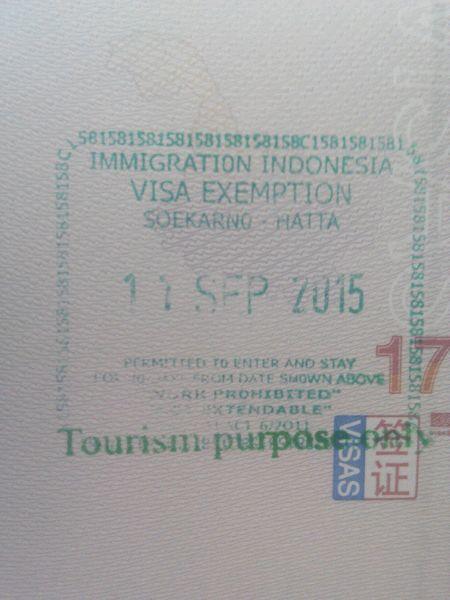 印度尼西亚日惹落地免签?求帮忙?